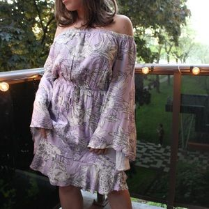 NWT Dex Lavender Flower Printed Summer Dress